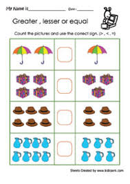 greater than less than worksheet for kindergarten more than less than worksheet printable math sheets grade 1 maths