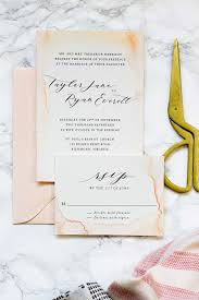 wedding invitations on a budget subtle watercolor wedding invitations how to make your own