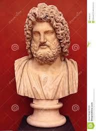 bust of the greek god zeus stock photo image 48662767