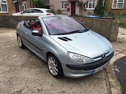 peugeot 206 peugeot 206 cc convertible 2 0 black u0026 red interior lovely car