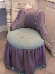 Skirted Vanity Chair Purple Vanity Seat Vanity Decoration