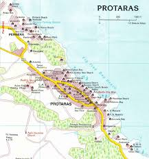 map of protaras protaras beaches map street map of paralimni