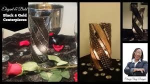 black and gold centerpieces diy easy black gold centerpieces dollar tree vases