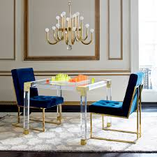 Acrylic Dining Room Tables by Jacques Acrylic Game Table Modern Furniture Jonathan Adler