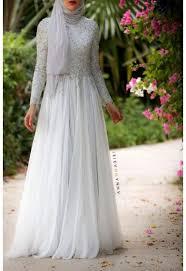 wedding dress muslimah simple gaun kebaya muslim 13 pinteres