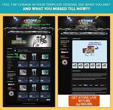 ebay template design in electrifying black theme 39 99 html