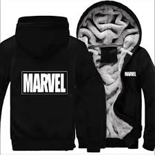 Winter Deals On S 2017 Winter Jackets And Coats Marvel Hoodies Thick Sweatshirts