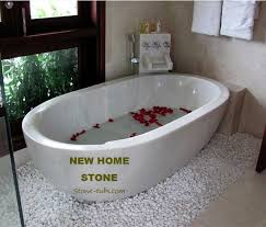 cultured marble tub surround white marble carved