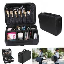 detachable travel bag toiletry kit portable makeup brushes pouch