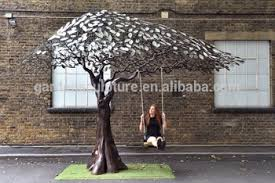 garden ornaments of large metal tree sculpture for sale buy