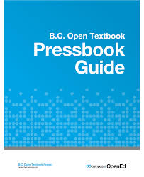Open B C Open Textbook Pressbooks Guide Open Textbook