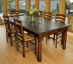 slate dining table set rustic oak dining table set and within slate top remodel 2