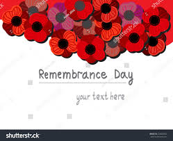 remembrance day red poppy day holiday stock vector 224820622