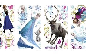 frozen wall stickers with glitter wall murals ireland disney frozen stickers with glitter by www wallmurals ie