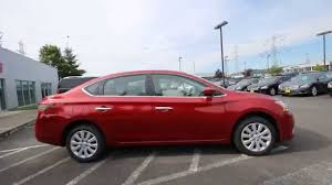 red nissan sentra 2014 nissan sentra sv red brick ey258129 kent tacoma youtube