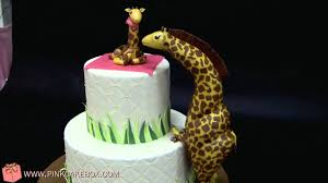 giraffe themed baby shower cake youtube