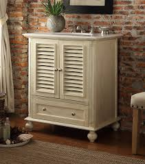 30 inch bathroom vanity louvered shutter doors style beige color