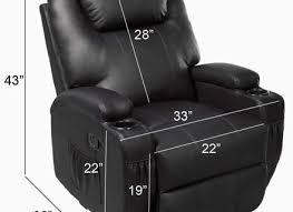 uenjoy massage recliner sofa chair ergonomic lounge swivel heated