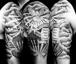 50 heaven tattoos for higher place design ideas heavens