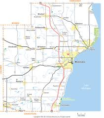 Map Of Wisconsin by Manitowoc County Wisconsin Map
