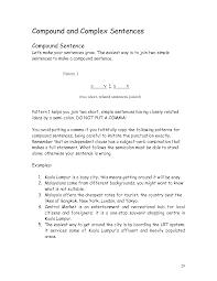 Simple Complex And Compound Sentences Worksheet 19 Best Images Of Compound Complex Sentences Practice Worksheet