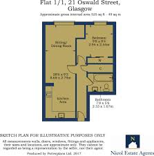 1 bed flat for sale in 21 oswald street glasgow city centre g1