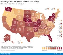 Cell Phone Service Map Cell Phone Service Taxes Average 18 An All Time High New Tax