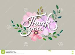 Thank You Card Designs Vector Thank You Card Design With Elegant Watercolor Flowers