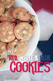 no dye white and blue cookies