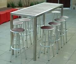 stainless steel bar table stainless steel pub table and chairs hoshin us