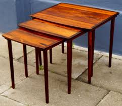 Danish Mid Century Modern Desk by Danish Mid Century Modern Rosewood Nesting Tables By N A