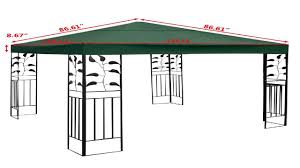 Pergola Replacement Canopy by New 10 X 10 Two Tier Replacement Gazebo Canopy Top Cover Sun Shade
