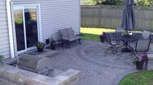 Belgard Fire Pit by Belgard Patio With Fire Pit U0026 Grill Surround In Hoffman Estates