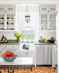 white kitchen cabinets with green countertops kitchen inspiration southern living