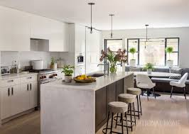 12 foot kitchen island light filled town home in boston traditional home