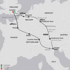 Eurostar Route Map by Multi Country European Vacation Package Cosmos Tours