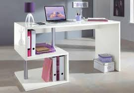 S Shaped Desk Esse Modern Study Desk With S Shaped Storage Area In White Gloss