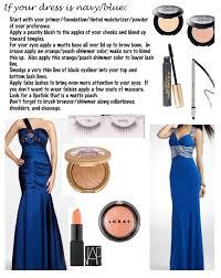 makeup for a navy blue dress