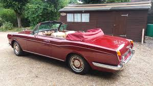 modified rolls royce 1968 rolls royce silver shadow convertible being auctioned at