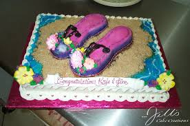 flipflopsonsheet jills cake creationsjills cake creations