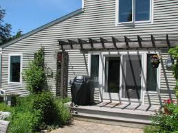 2 story deck with pergola covered trellis patio designs yard