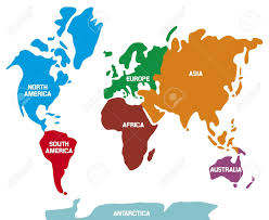 printable map of the 7 continents in world world map 7