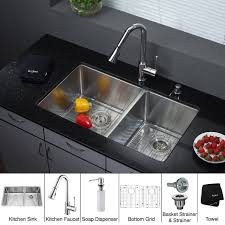 Kitchen Sinks And Faucet Designs Kitchen Stainless Steel Kraus Sink Combination For Your Kitchen
