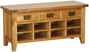 buy vancouver petite oak shoe rack online cfs uk