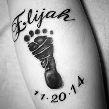 tattoo with kids names 50 kids name tattoos for men cool