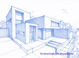 house drawings draw a house in perspective
