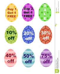 where to buy easter eggs easter eggs percentages bogo sale sign royalty free stock