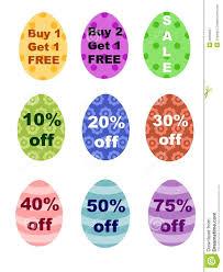 easter eggs sale easter eggs percentages bogo sale sign royalty free stock