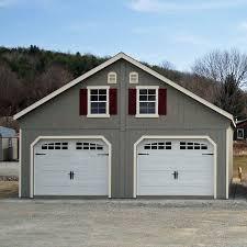 Building A Two Car Garage Bayhorse Gazebos U0026 Barns 24 U0027 X 26 U0027 Duratemp A Frame Two Story