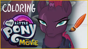 pony movie coloring tempest shadow kids coloring